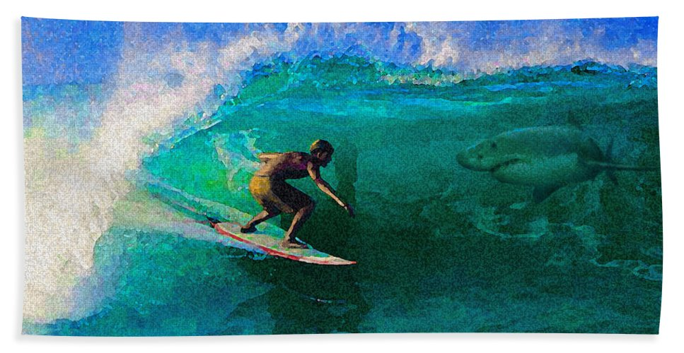 Hawaii Iphone Cases Bath Sheet featuring the photograph Surfs Up by James Temple