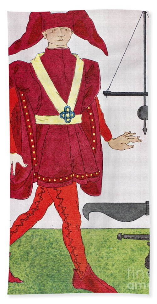 14th Century Bath Sheet featuring the photograph Surgeon, 14th Century by Granger