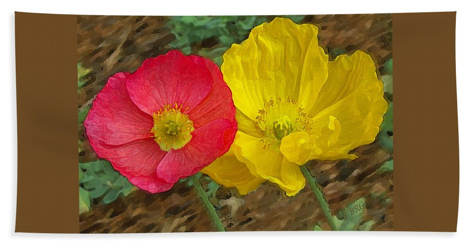 Iceland Poppies Bath Sheet featuring the photograph Surprised Poppies by Ben and Raisa Gertsberg