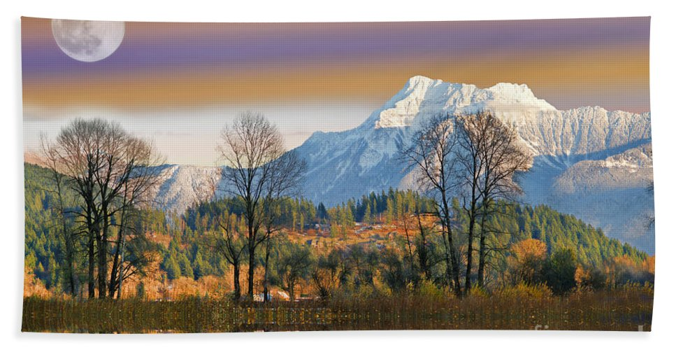 Scenic Bath Sheet featuring the photograph Surreal Landscape-hdr by Randy Harris