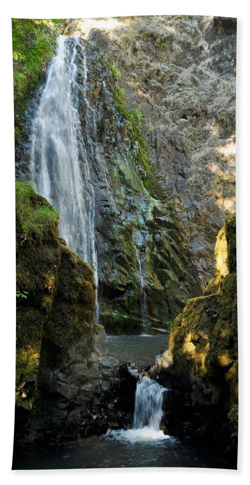 Rocks Bath Sheet featuring the photograph Susan Creek Falls Series 3 by Teri Schuster