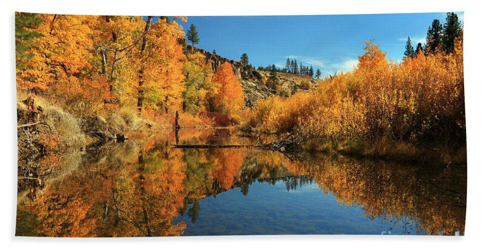 Autumn Bath Sheet featuring the photograph Susan River 11-3-12 by James Eddy