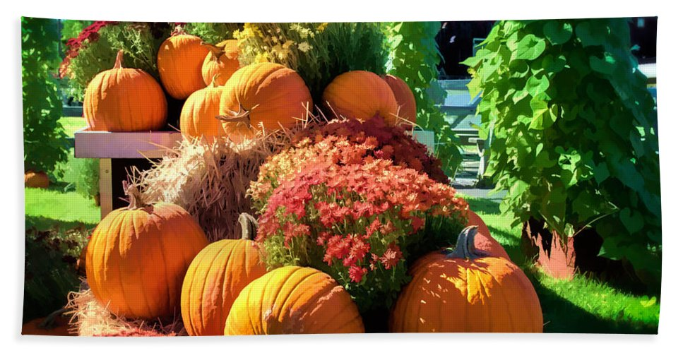 Fall Bath Sheet featuring the photograph Sussex County Farm Stand by Eleanor Abramson