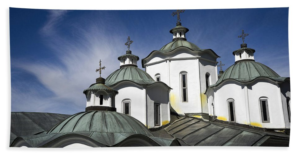 Churches Bath Sheet featuring the photograph Sv Joakim Osogovski In Macedonia by For Ninety One Days