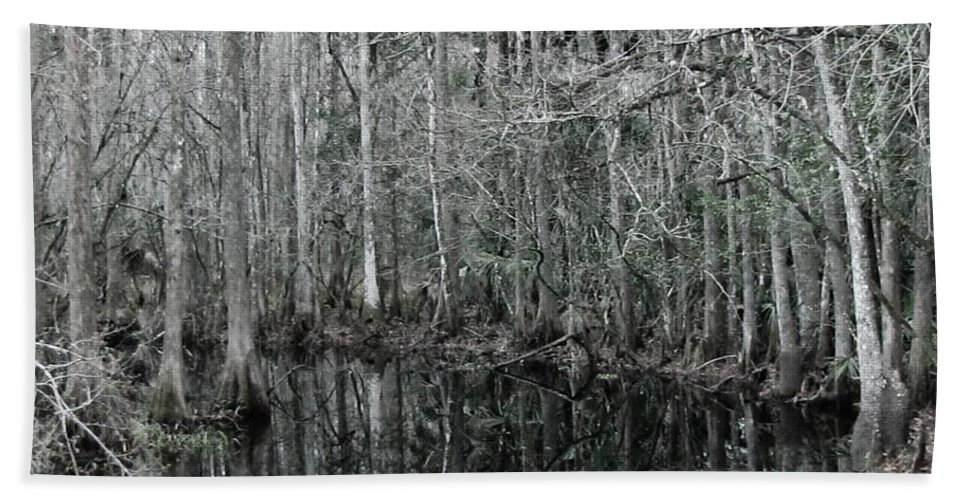 Keri West Hand Towel featuring the photograph Swamp Greens by Keri West