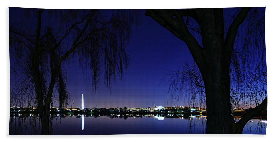 Metro Hand Towel featuring the photograph Swamp Land No More by Metro DC Photography