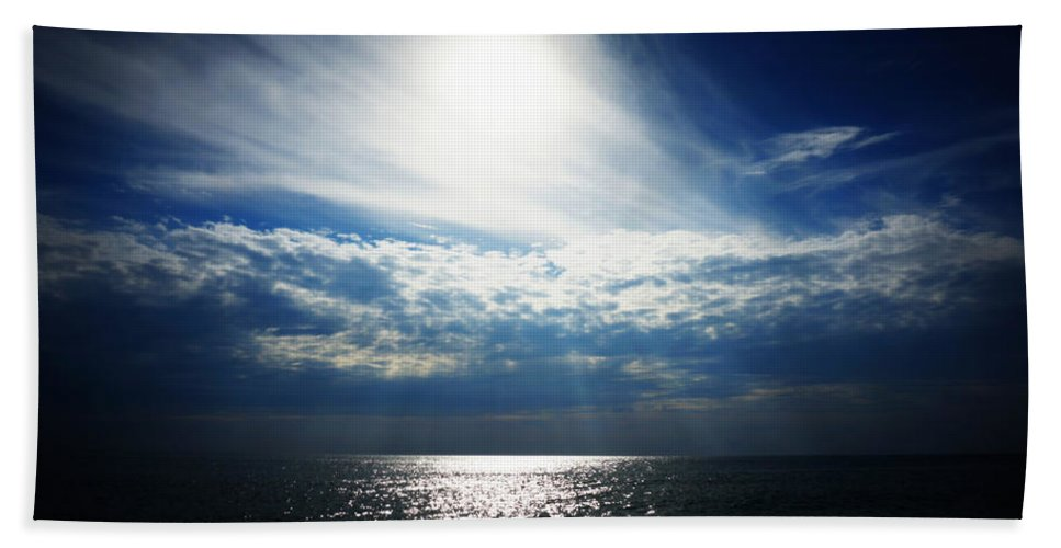 Digital Photograph Bath Sheet featuring the photograph Sweeping Clouds by Laurie Pike