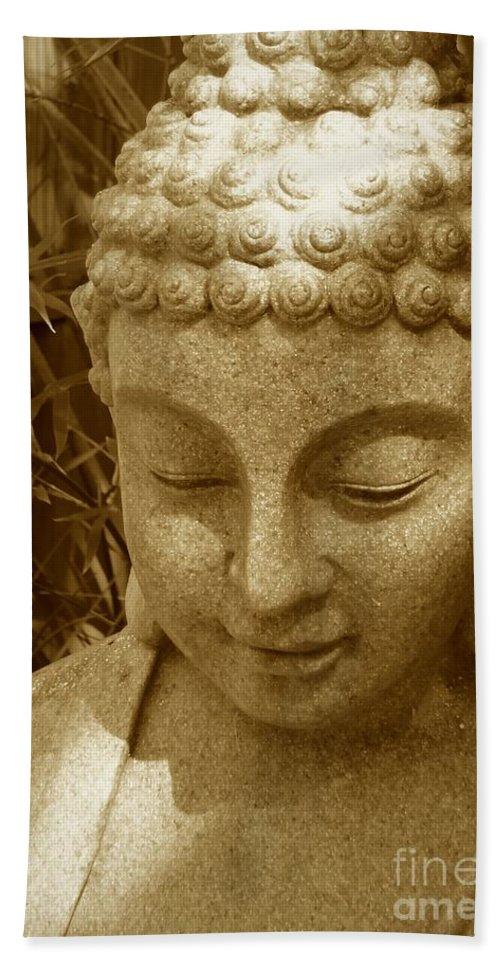Buddha Bath Sheet featuring the photograph Sweet Buddha by Carol Groenen