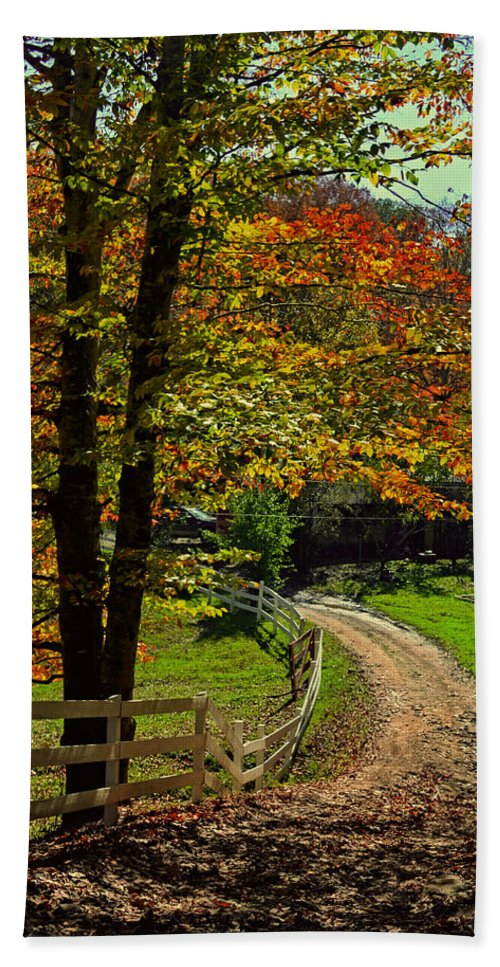 Paths Hand Towel featuring the photograph Sweet Country Morning by Lj Lambert
