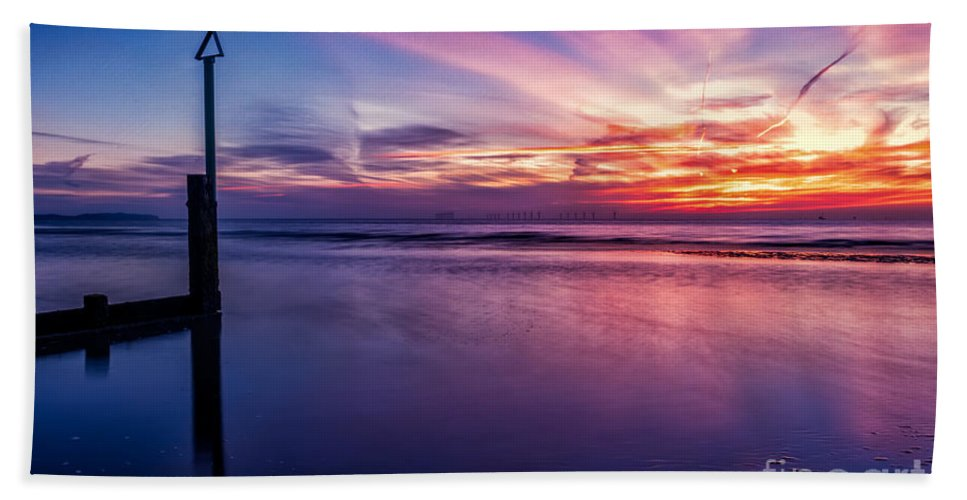 Sunset Bath Sheet featuring the photograph Sweet Sunset by Adrian Evans