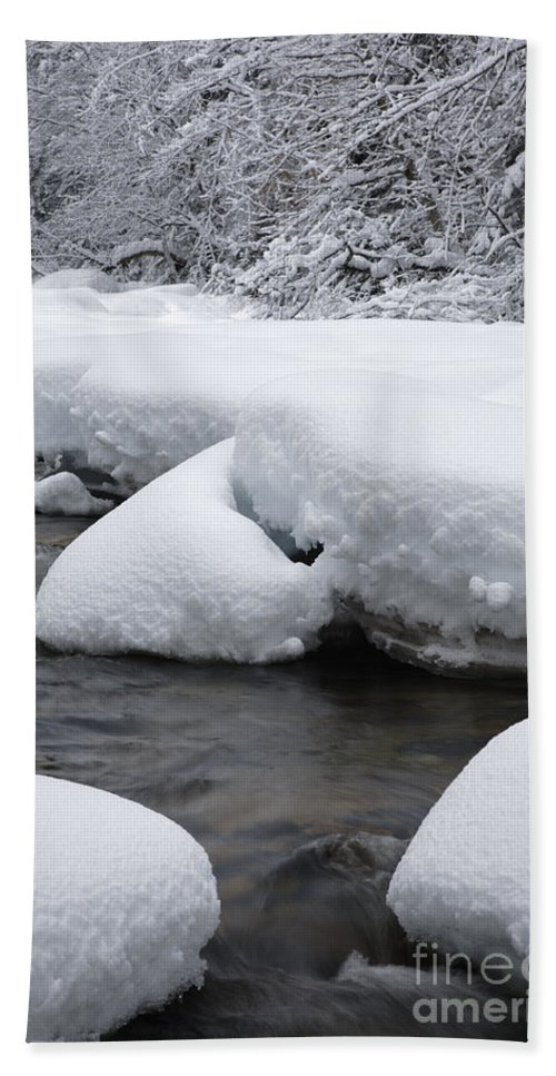 White Mountain National Forest Bath Sheet featuring the photograph Swift River - White Mountains New Hampshire Usa by Erin Paul Donovan