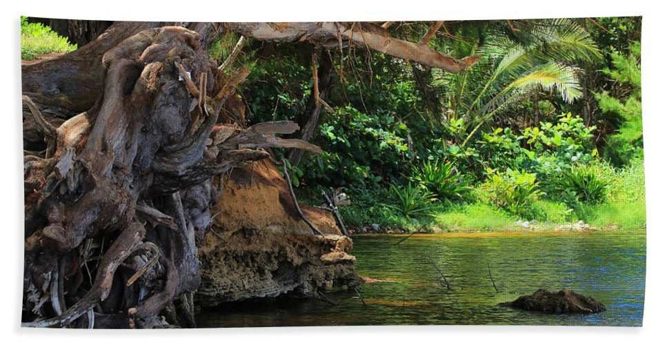 Kauai Hand Towel featuring the photograph Swimming Hole by Kris Hiemstra