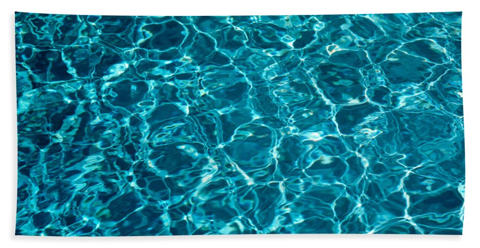 Photography Hand Towel featuring the photograph Swimming Pool Ripples Sacramento Ca Usa by Panoramic Images