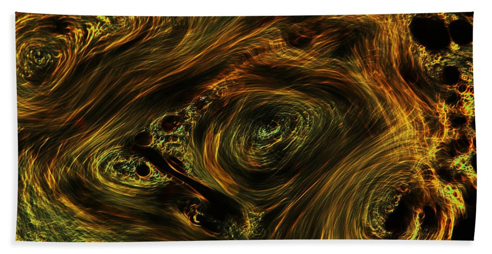 Abstract Bath Sheet featuring the photograph Swirling 2 by Robert Woodward