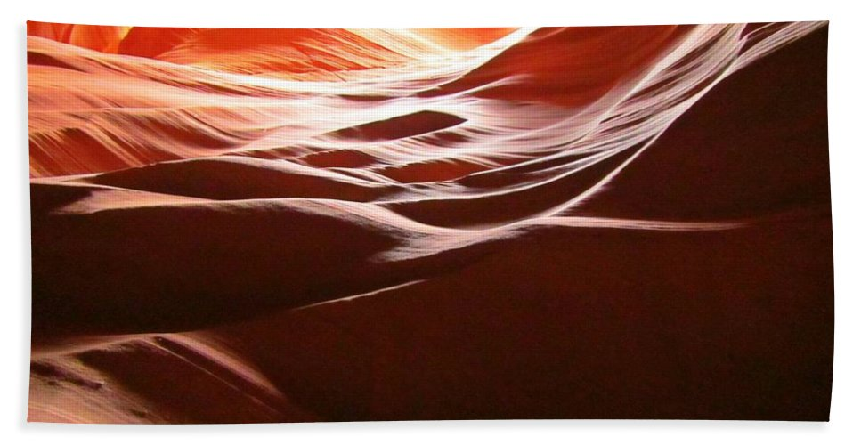 Beautiful Canyons Hand Towel featuring the photograph Swirling Layers Of Sandstone by John Malone
