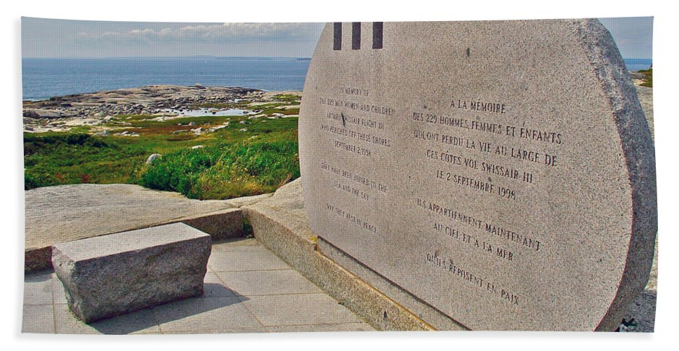 Swissair Flight 111 Of 1998 Memorial In Whalesback Hand Towel featuring the photograph Swissair Flight 111 Of 1998 Memorial In Whalesback-ns by Ruth Hager