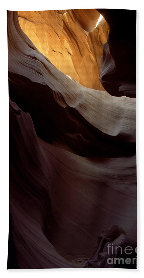 Slot Canyons Hand Towel featuring the photograph Swopes by Kathy McClure