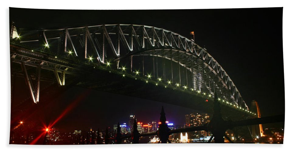 Sydney Hand Towel featuring the photograph Sydney Harbour Bridge by Fraser McCulloch