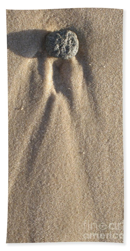 Sylt Angel Bath Sheet featuring the photograph Sylt Angel by Heidi Sieber