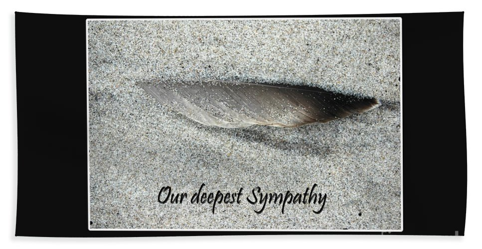 Sorrow Bath Sheet featuring the photograph Sympathy Feather by Randi Grace Nilsberg