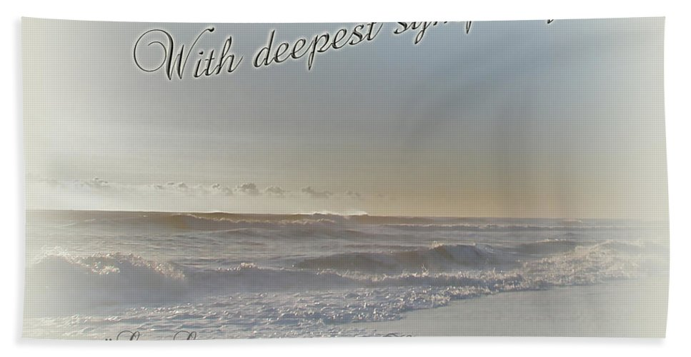 Sympathy Hand Towel featuring the photograph Sympathy Greeting Card - Ocean After Storm by Mother Nature