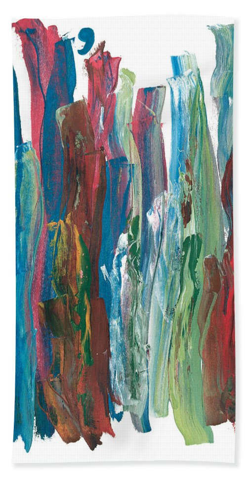 Music.symphony Hand Towel featuring the painting Symphony by Bjorn Sjogren
