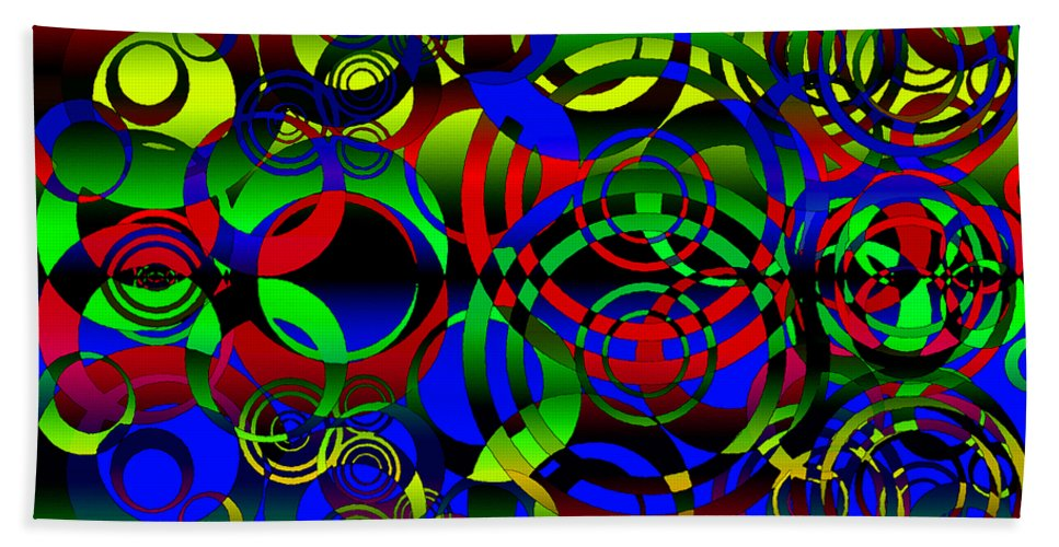 Balance Bath Sheet featuring the digital art Synchronicity 1 by Angelina Vick