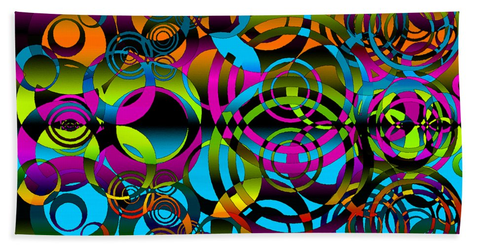 Balance Hand Towel featuring the digital art Synchronicity 3 by Angelina Vick