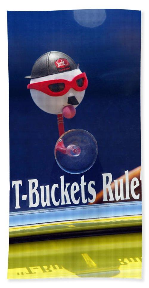 Transportation Bath Sheet featuring the photograph T-buckets Rule by Jill Reger