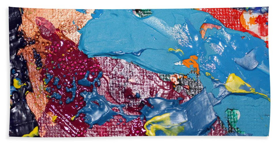 Abstract Hand Towel featuring the photograph T S 6 by David Mayeau