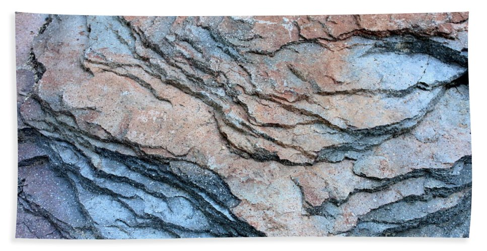 Nature Abstract Hand Towel featuring the photograph Tahoe Rock Formation by Carol Groenen