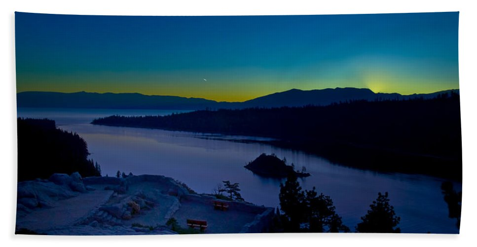 Lakes Bath Towel featuring the photograph Tahoe Sunrise by Jim Thompson