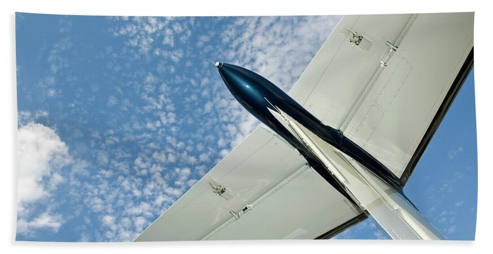 Airplane Bath Sheet featuring the photograph Tail Of The Airplane by Carolyn Marshall