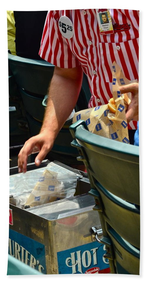 Ballgame Hand Towel featuring the photograph Take Me Out To The Ball Game by Frozen in Time Fine Art Photography