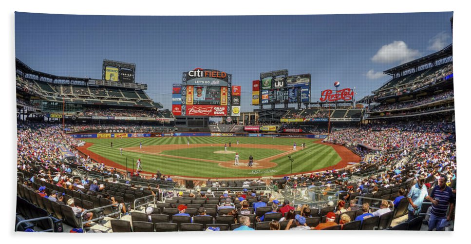 Citi Field Bath Sheet featuring the photograph Take Me Out To The Ballgame by Evelina Kremsdorf
