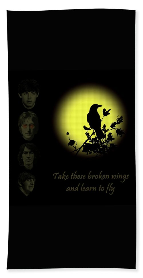 Blackbird Bath Towel featuring the photograph Take These Broken Wings And Learn To Fly by David Dehner