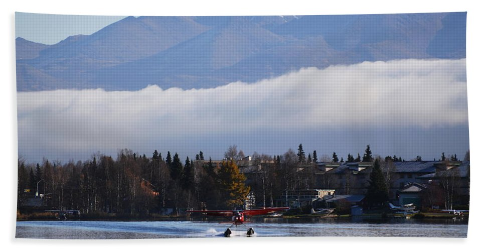 Takeoff Hand Towel featuring the photograph Takeoff 1 by Richard Booth