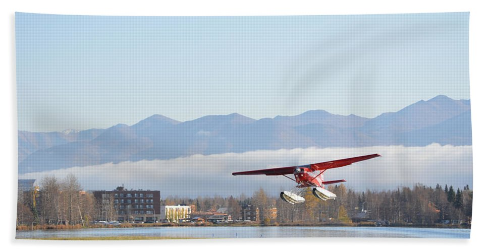 Takeoff Hand Towel featuring the photograph Takeoff 3 by Richard Booth