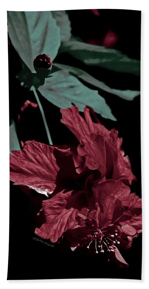 Hibiscus Hand Towel featuring the photograph Taking A Bow by DigiArt Diaries by Vicky B Fuller
