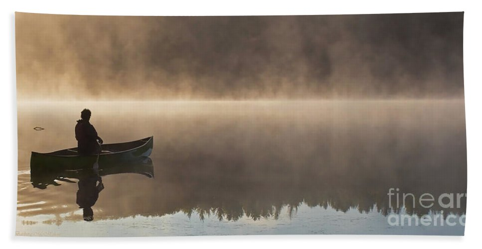 Canoeist Hand Towel featuring the photograph Taking It All In by Barbara McMahon