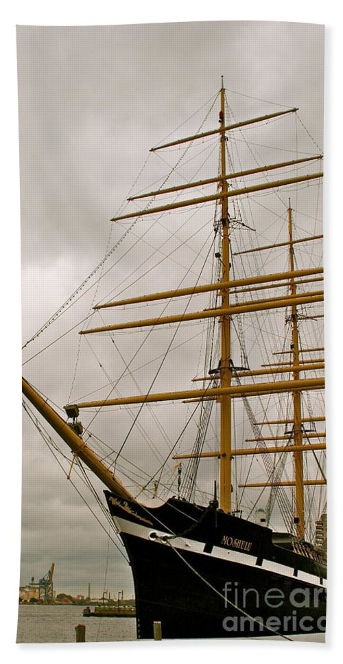 Ship Bath Towel featuring the photograph Tall by Rick Monyahan