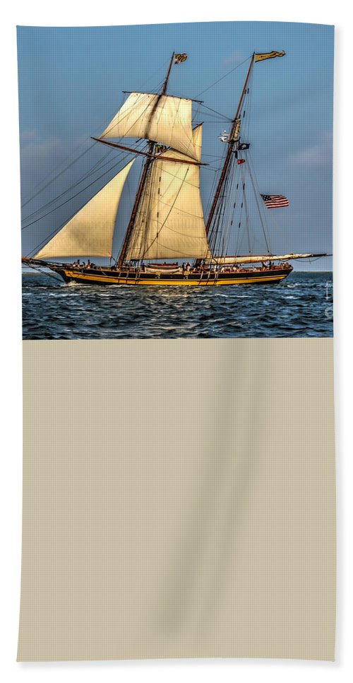 Tall Ship Bath Sheet featuring the photograph Sailing The 7 Seas by Dale Powell