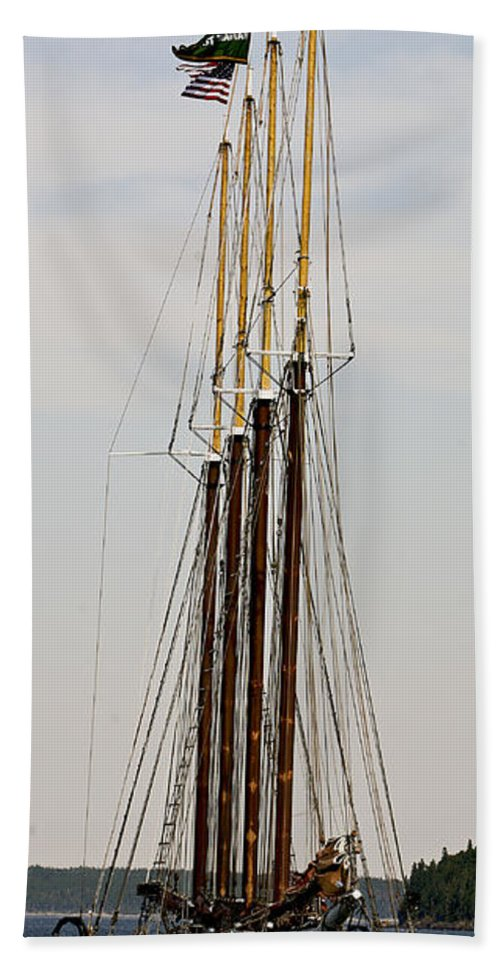 Tall Ship Hand Towel featuring the photograph Tall Tall Ship by Eric Swan