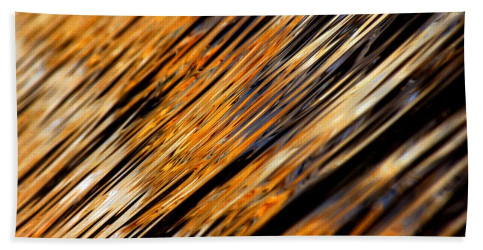 Water Bath Sheet featuring the photograph Tangerine Sunset by Donna Blackhall