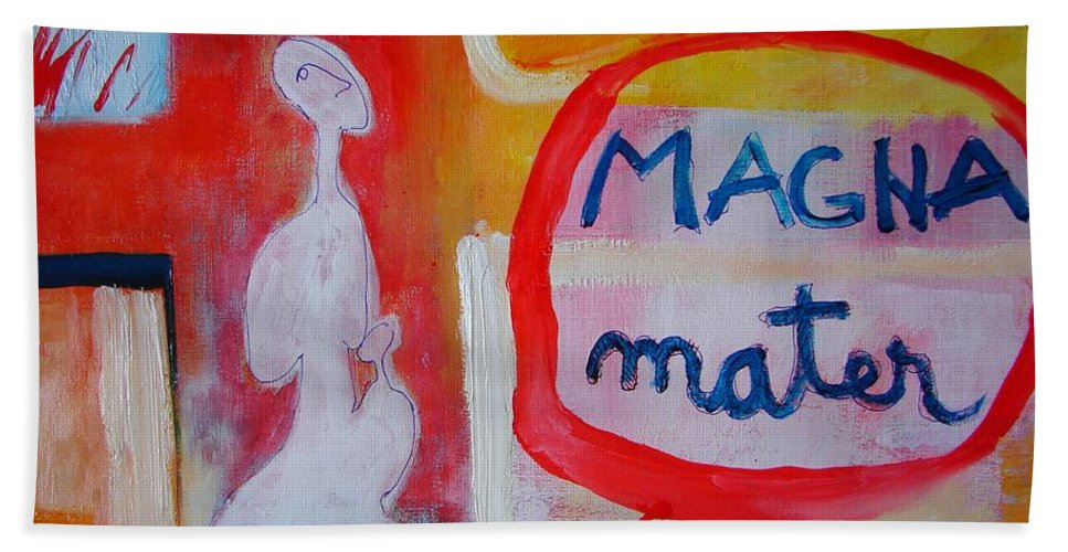 Abstract Hand Towel featuring the painting Tango by Ana Maria Edulescu