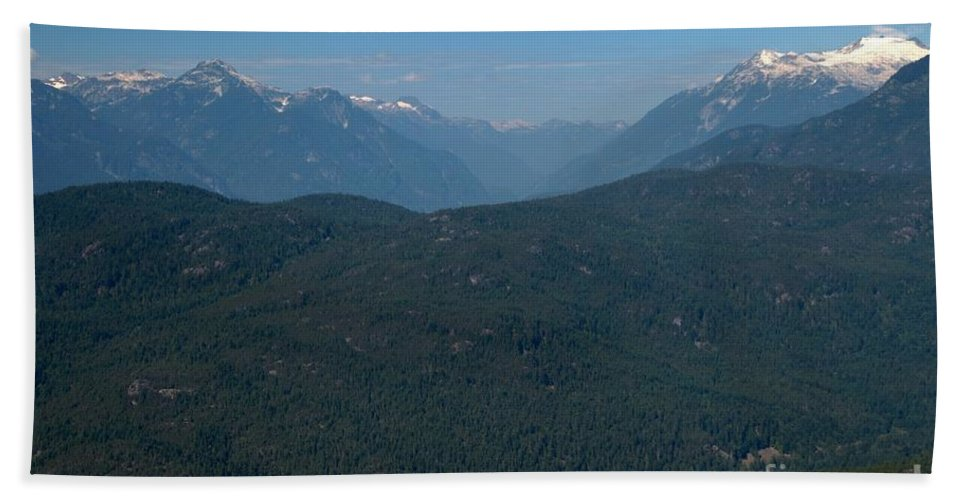 Tantalus Bath Sheet featuring the photograph Tantalus Mountain Snow Caps by Adam Jewell