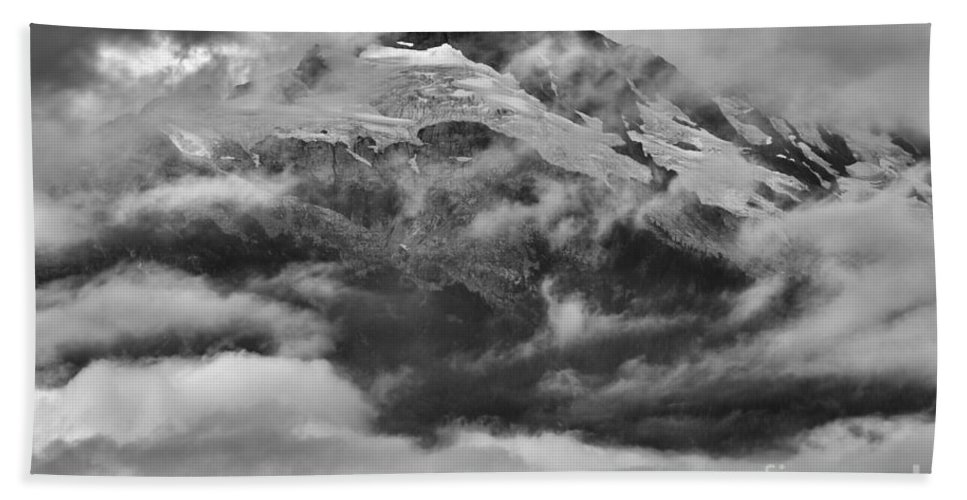 Tantalus Bath Sheet featuring the photograph Tantalus Mountain Storms by Adam Jewell