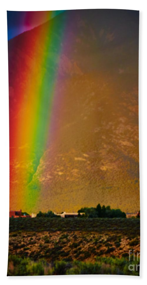 Vivid Hand Towel featuring the photograph Taos Magic by Charles Muhle