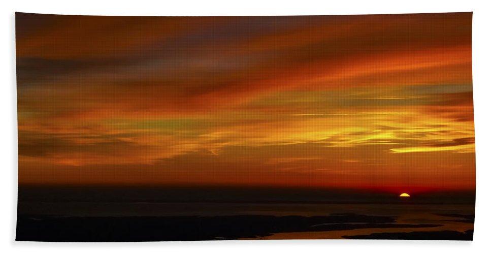 Rappahannock Sunrise Bath Sheet featuring the photograph Rappahannock Sunrise II by Greg Reed