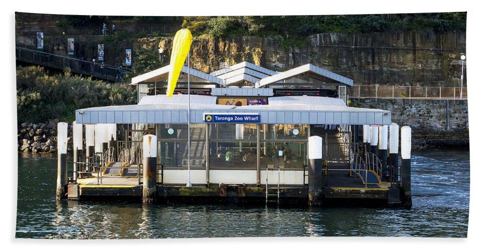 Australia Hand Towel featuring the photograph Taronga Zoo Wharf by Steven Ralser